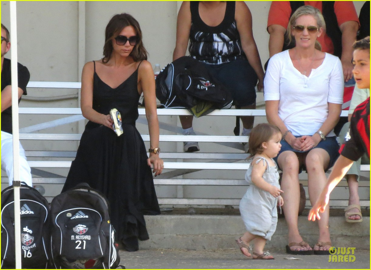 victoria beckham sons soccer game 462730840