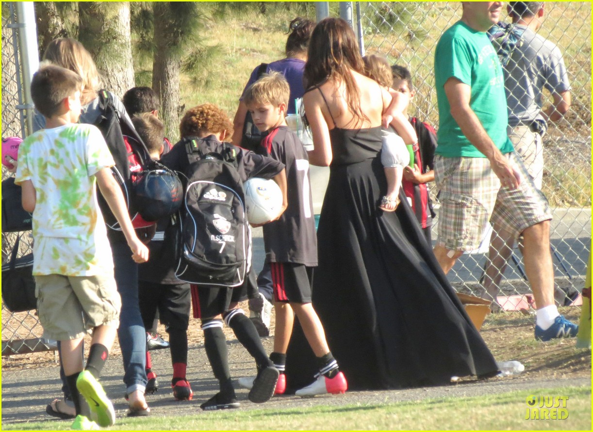 victoria beckham sons soccer game 582730852