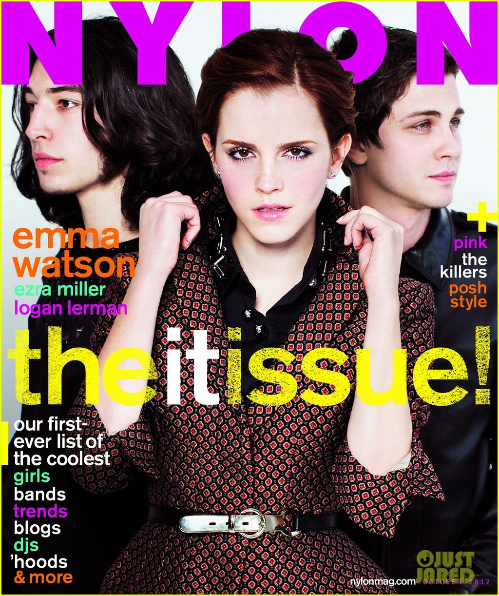 emma watson logan lerman nylon shoot exclusive outtake 012727816