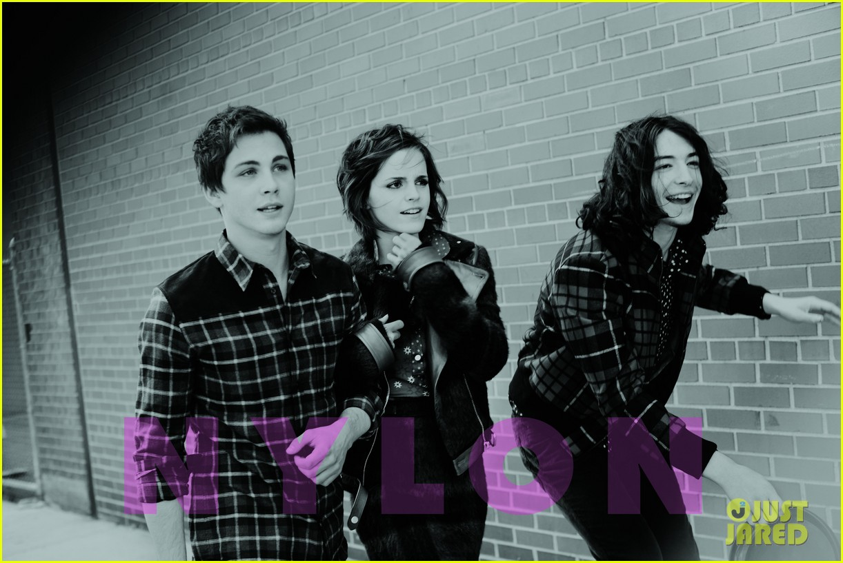emma watson logan lerman nylon shoot exclusive outtake 02