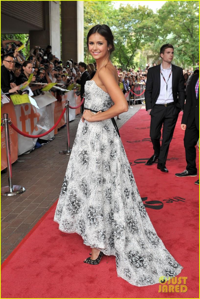 Nina Dobrev Perks Of Being A Wallflower Premiere Hair Emma Watson and Nina D...