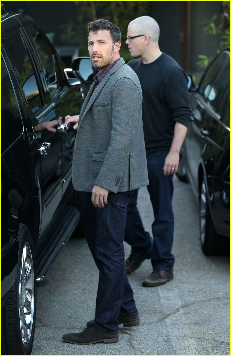 ben affleck matt damon business meeting buddies 052744488
