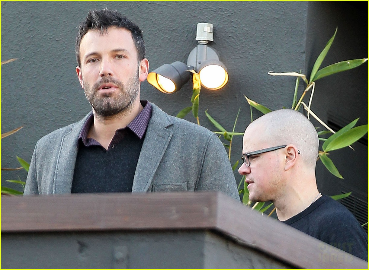 ben affleck matt damon business meeting buddies 062744489