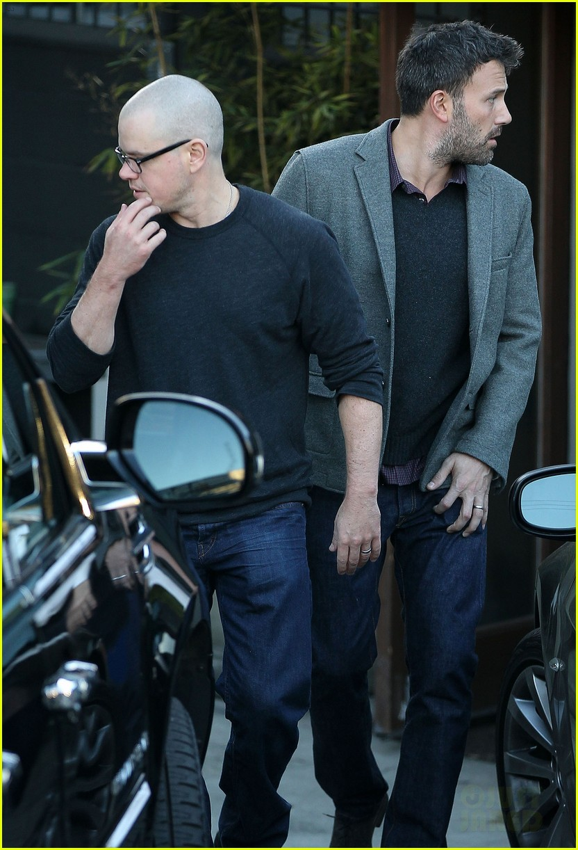 ben affleck matt damon business meeting buddies 092744492