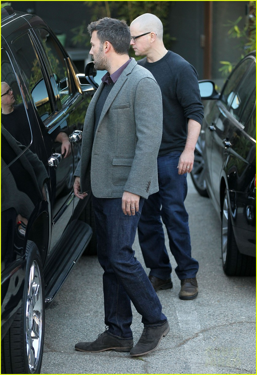 ben affleck matt damon business meeting buddies 142744497
