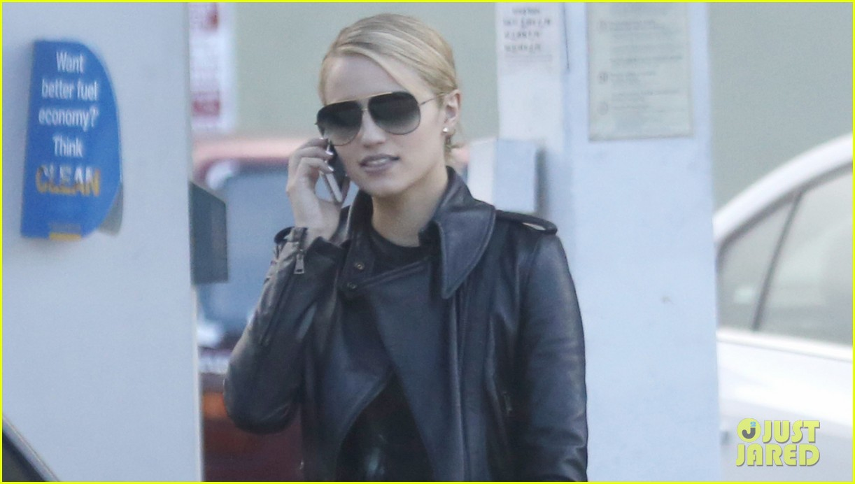 dianna agron stylish gas station stop 032738635