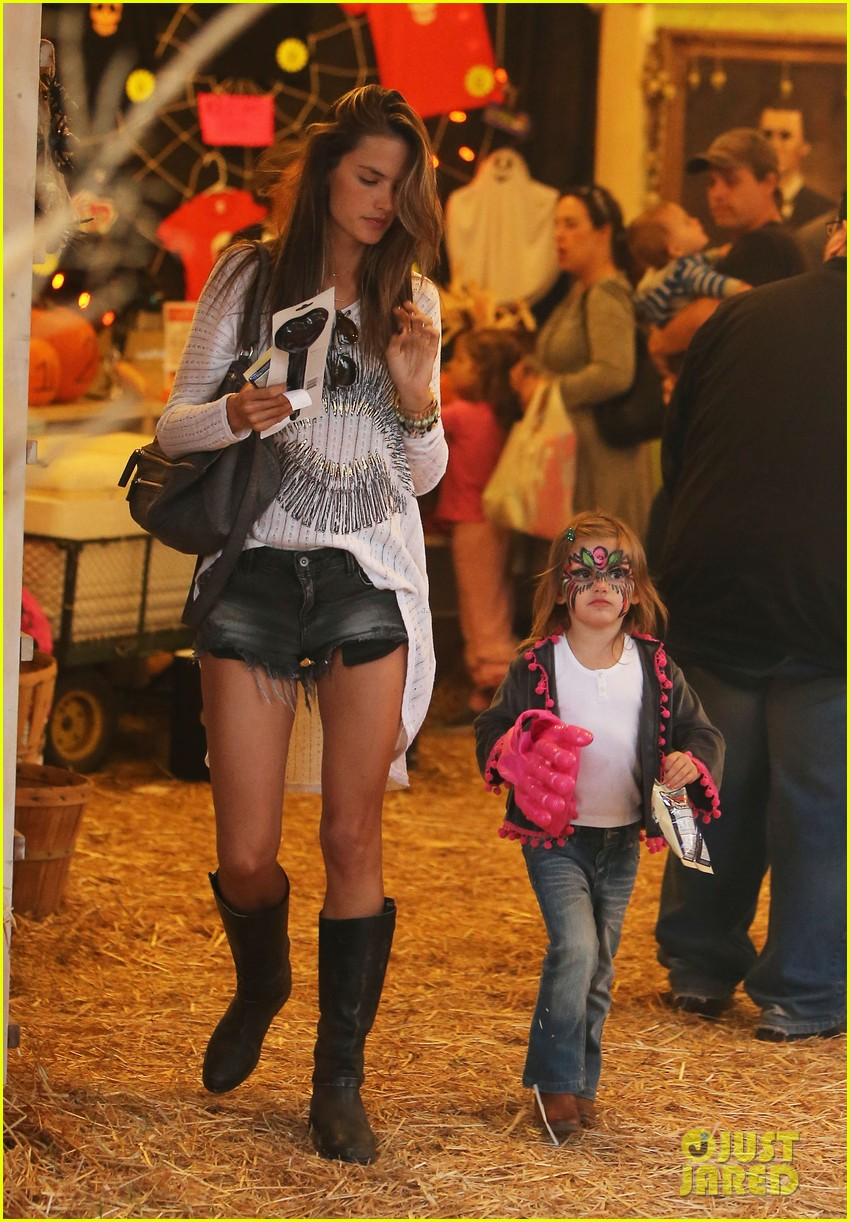 alessandra ambrosio mr bones pumpkin patch visit 132744157