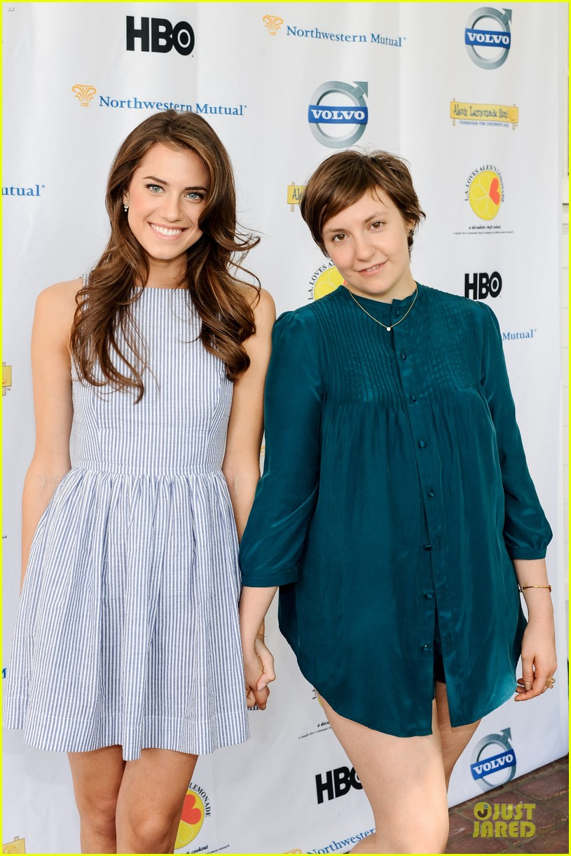 allison williams lena dunham la loves alexs lemonade charity event 01