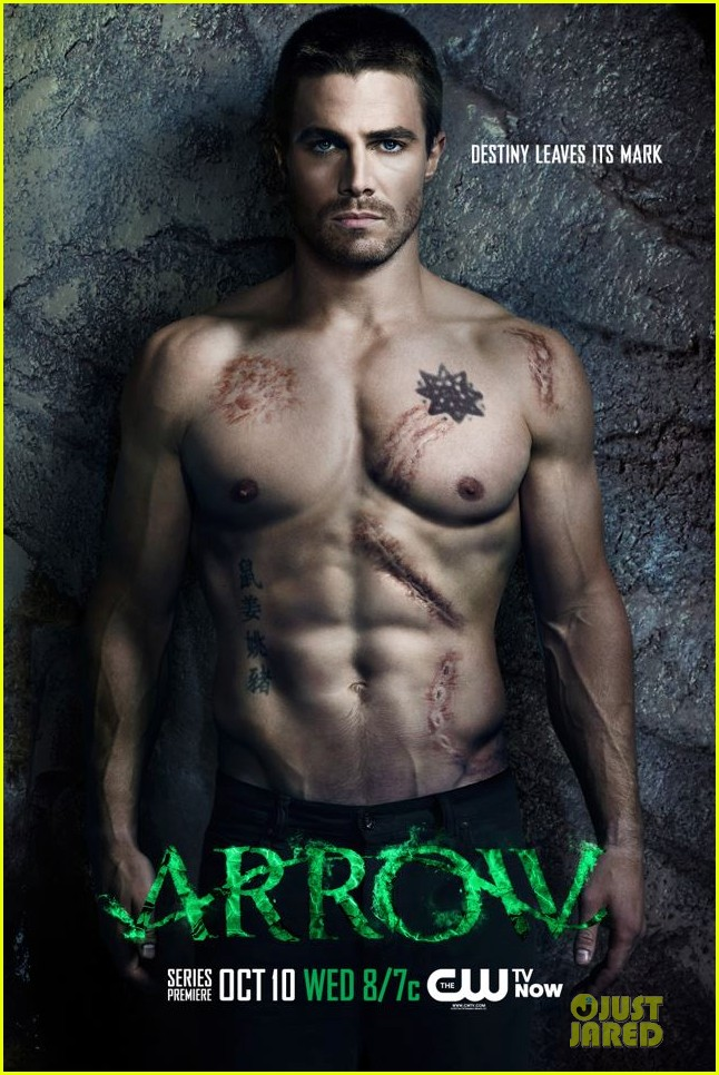 stephen amell new shirtless arrow posters 02