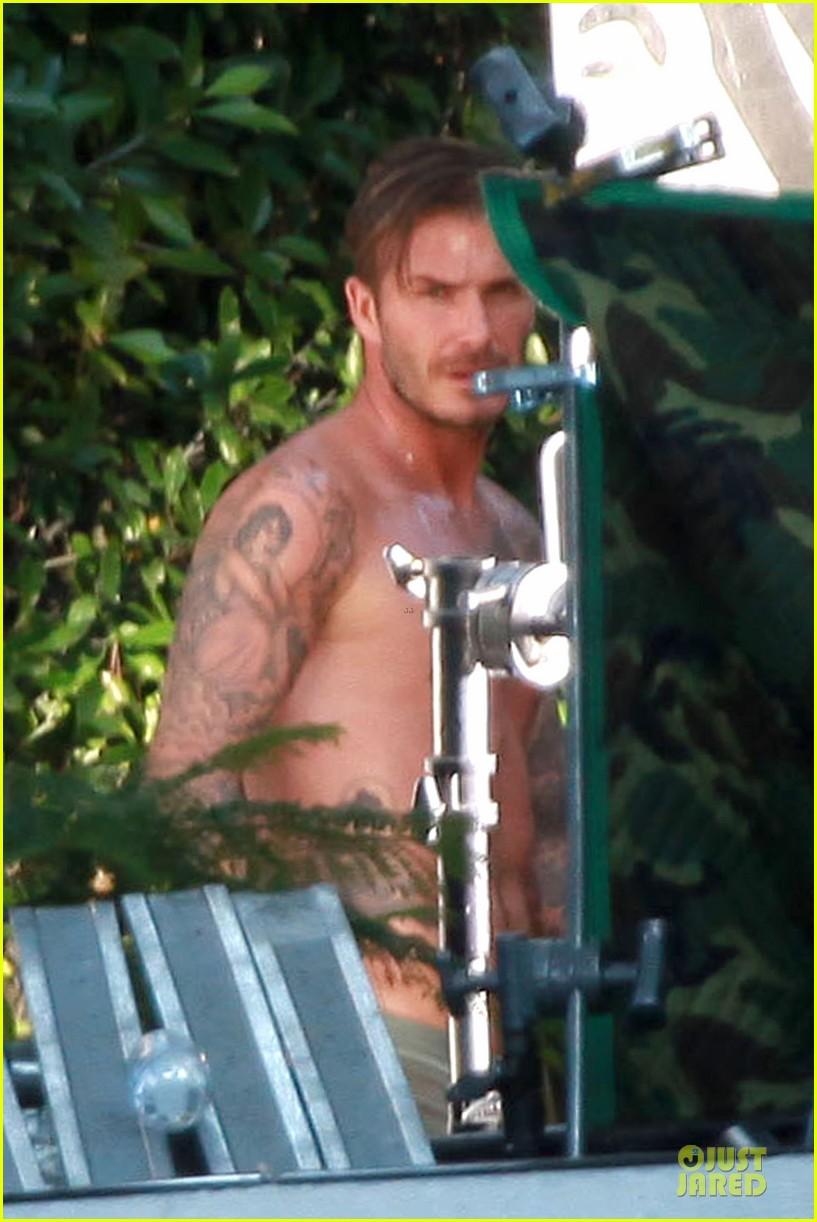 david beckham shirtless briefs h&m photoshoot beverly hills 142731967