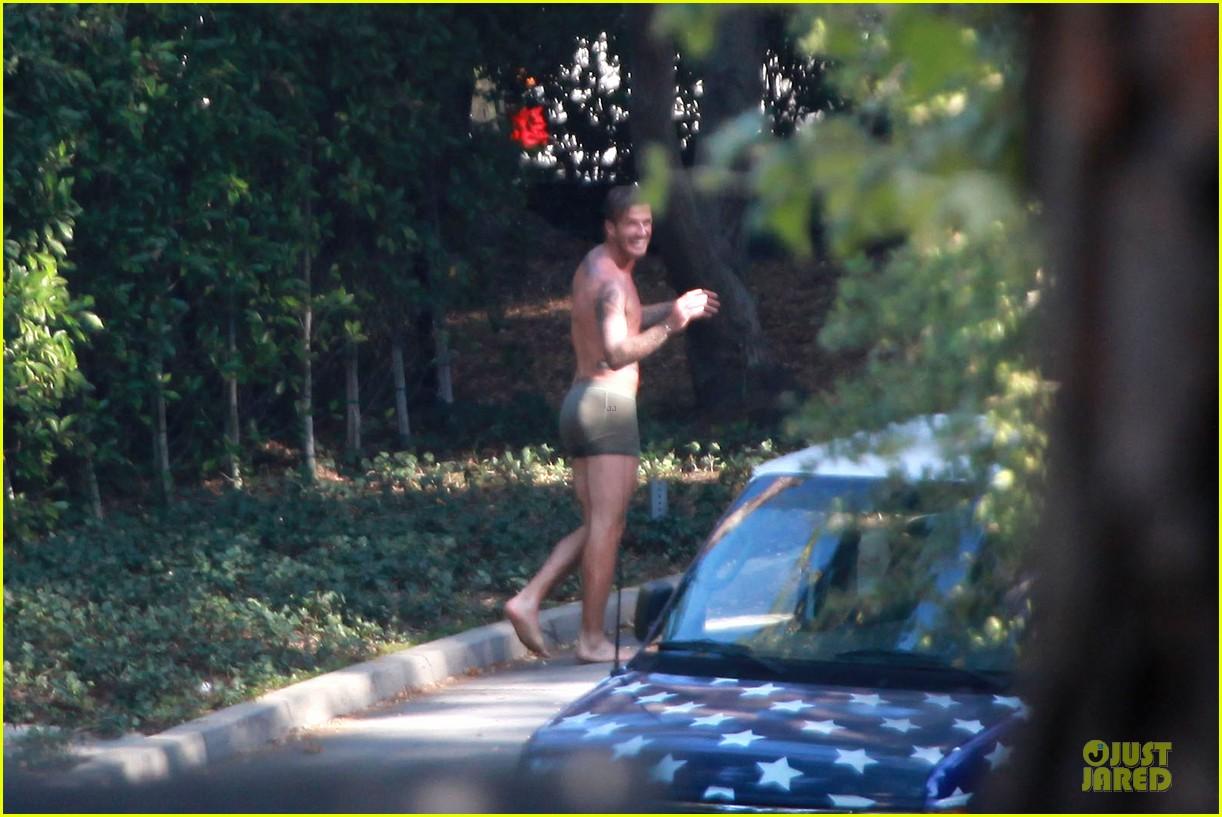 david beckham shirtless briefs h&m photoshoot beverly hills 152731968