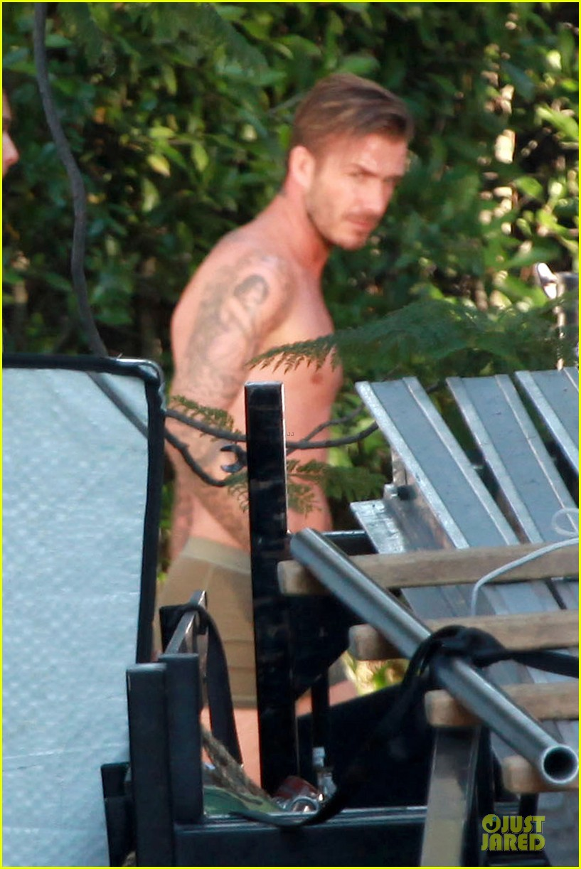 david beckham shirtless briefs h&m photoshoot beverly hills 172731970