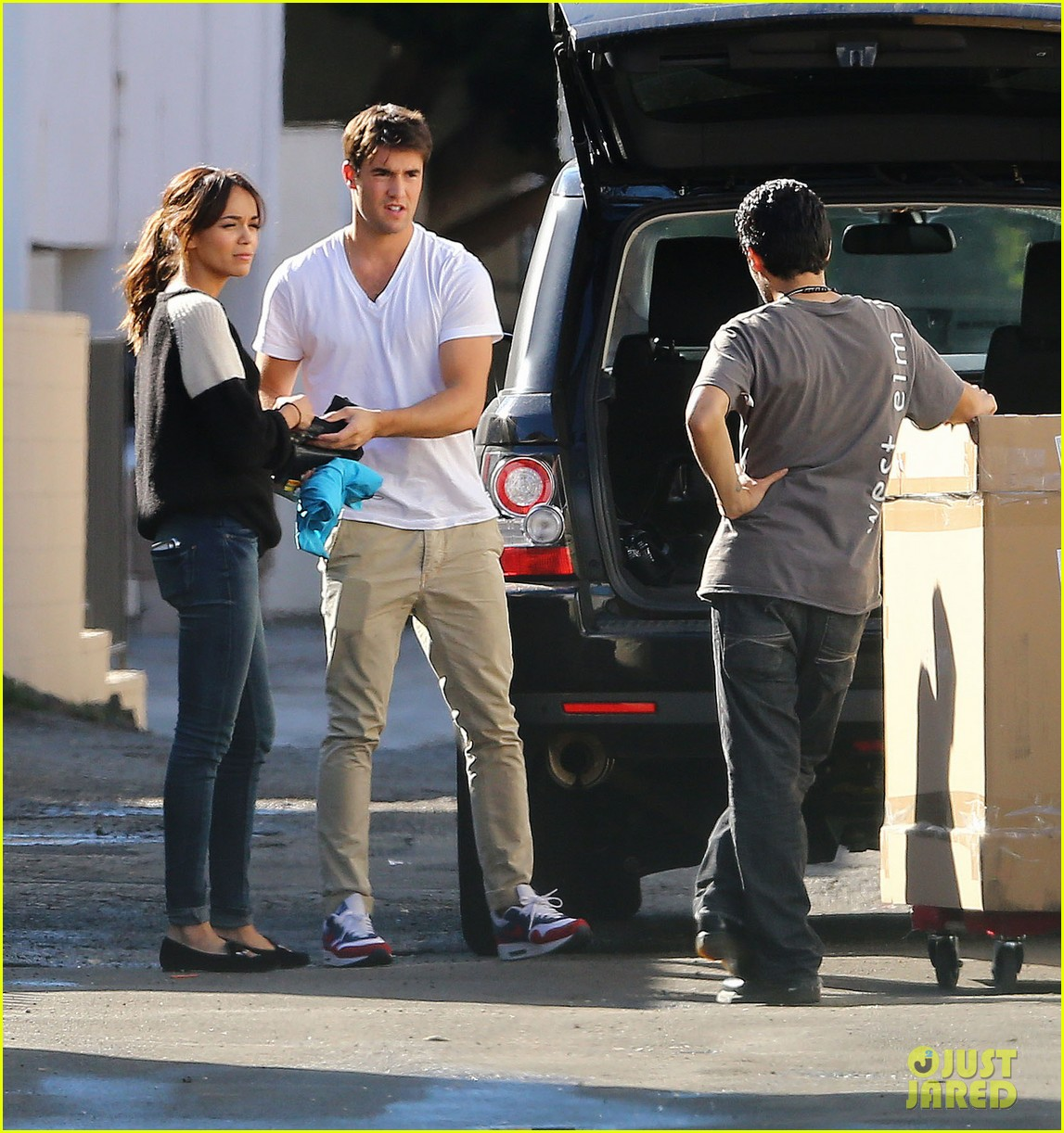 joshua bowman ashley madekwe furniture shopping 22