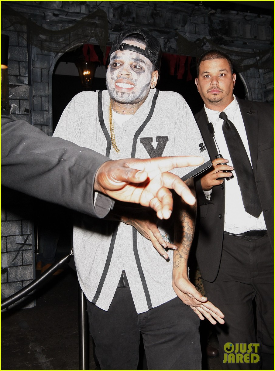 chris brown greystone manor halloween with karrueche tran 022747473