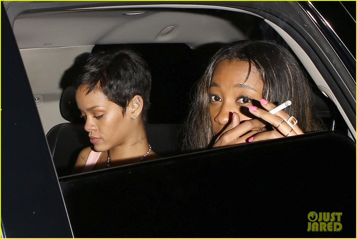 chris brown rihanna leave same party separately 05