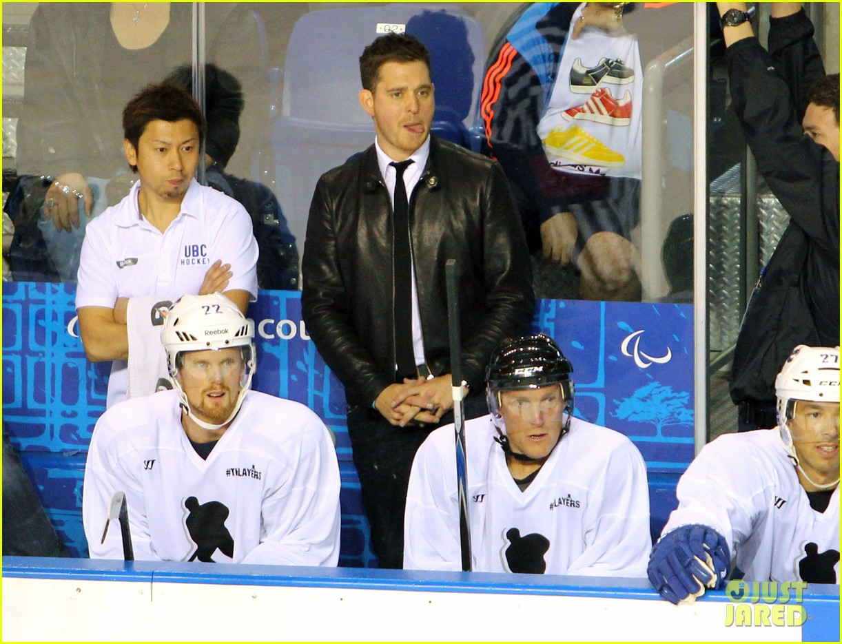 michael buble bieksas buddies charity hockey game 032740697