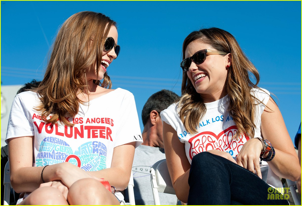 sophia bush christa b allen aids walk 13