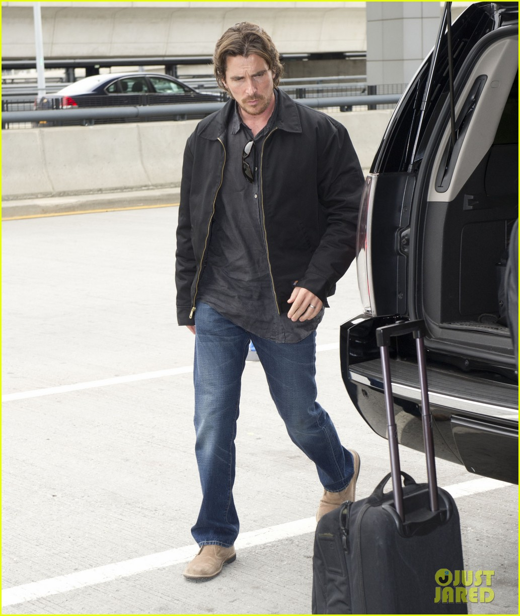 christian bale jfk airport arrival with sibi blazic 052745028