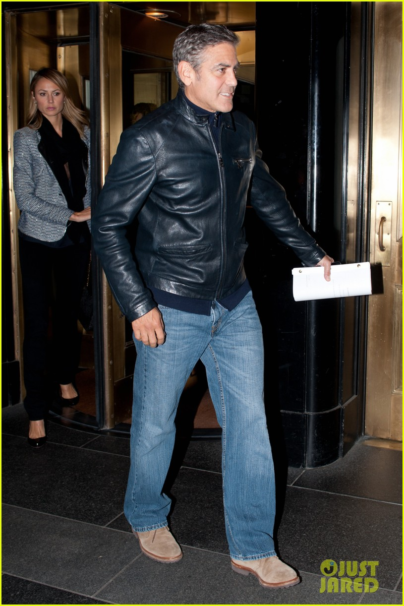 george clooney stacy keibler new york city duo 042735041