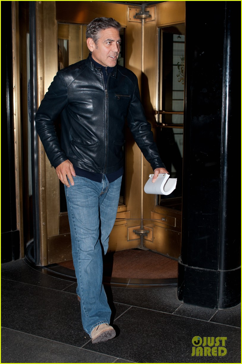 george clooney stacy keibler new york city duo 09