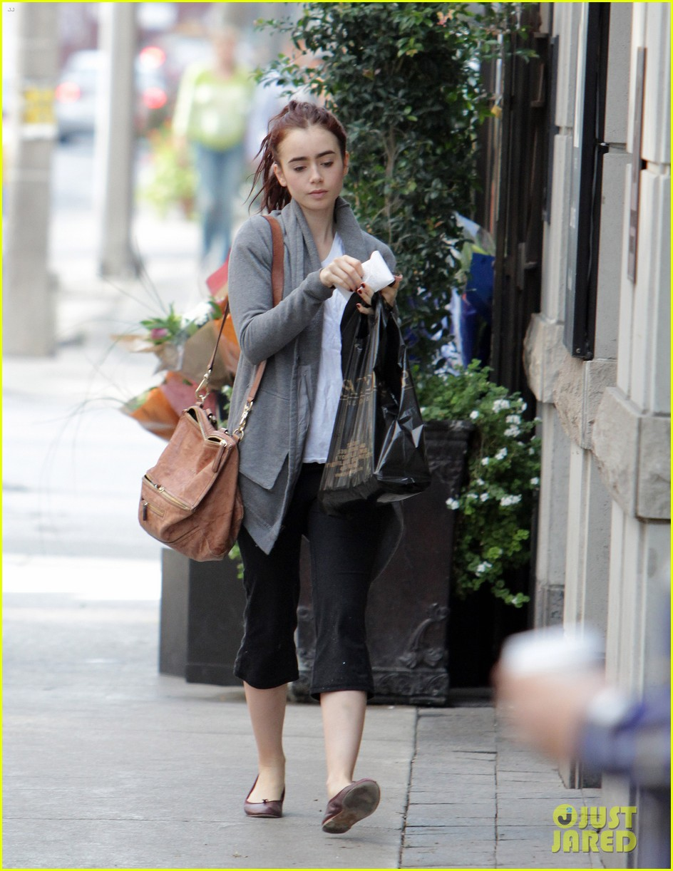 lily collins mortal instruments break in toronto 052733078
