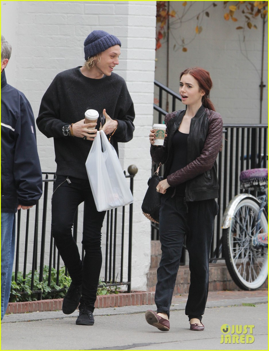 lily collins morning coffee jamie campbell bower 012742630