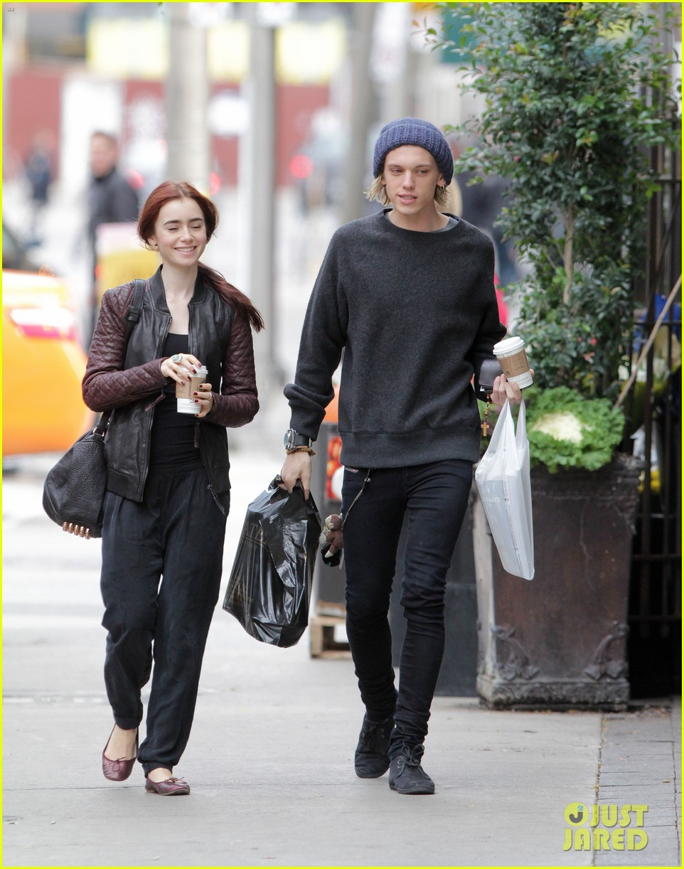 lily collins morning coffee jamie campbell bower 022742631
