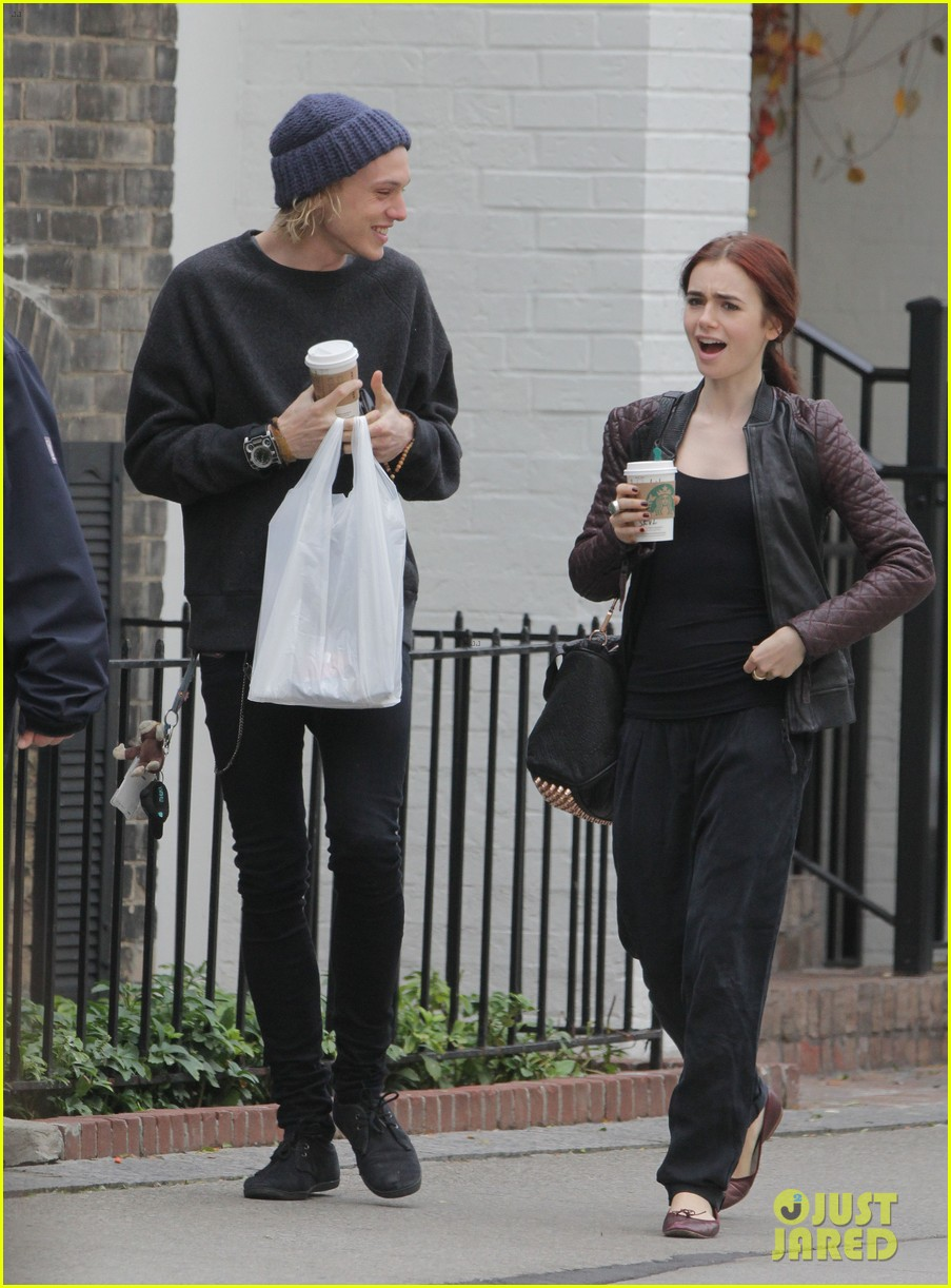 lily collins morning coffee jamie campbell bower 07