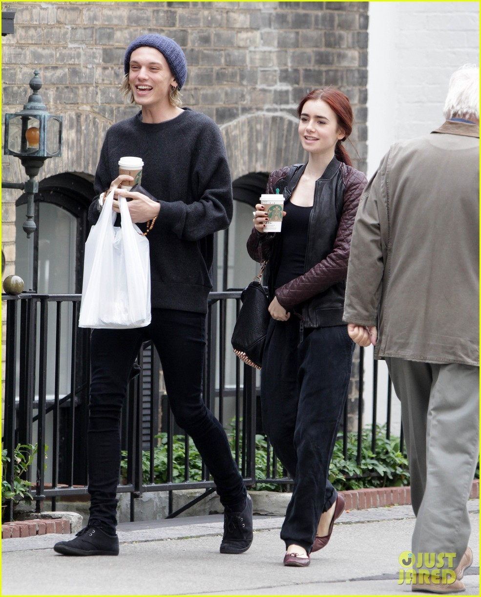 lily collins morning coffee jamie campbell bower 08
