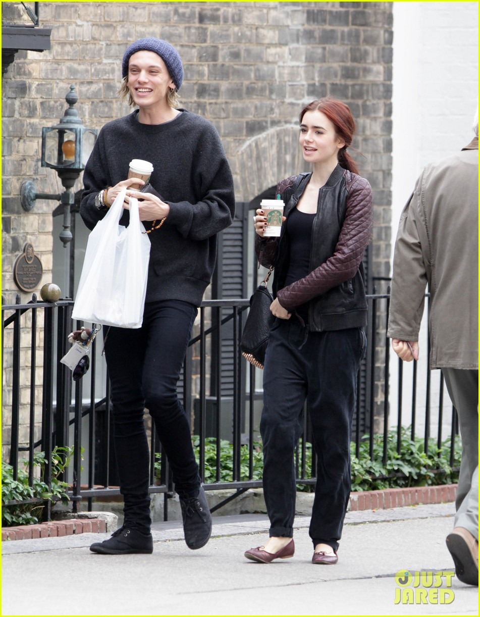 lily collins morning coffee jamie campbell bower 092742638