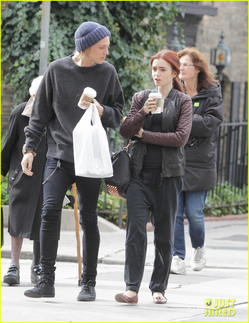 lily collins morning coffee jamie campbell bower 102742639