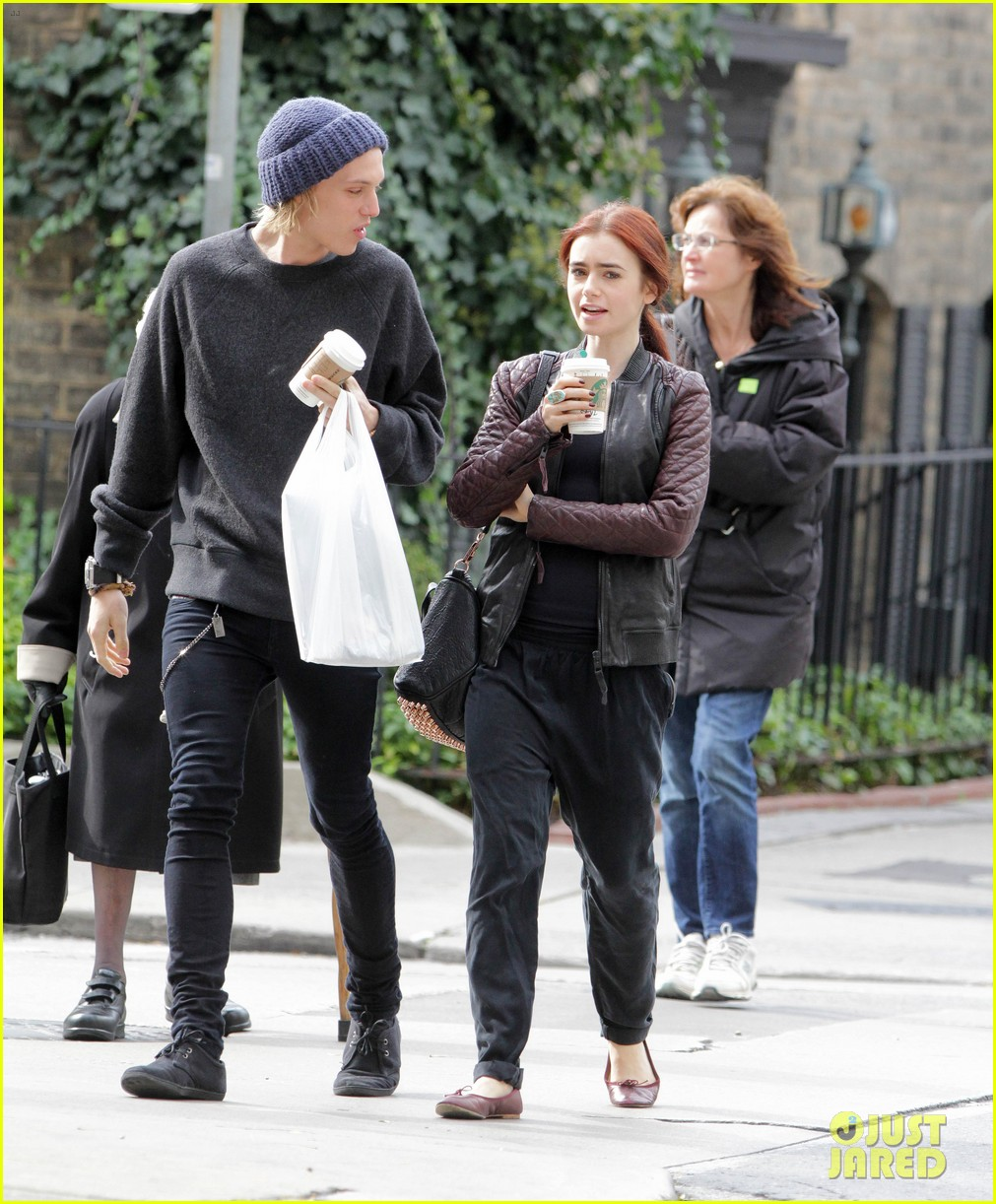lily collins morning coffee jamie campbell bower 112742640