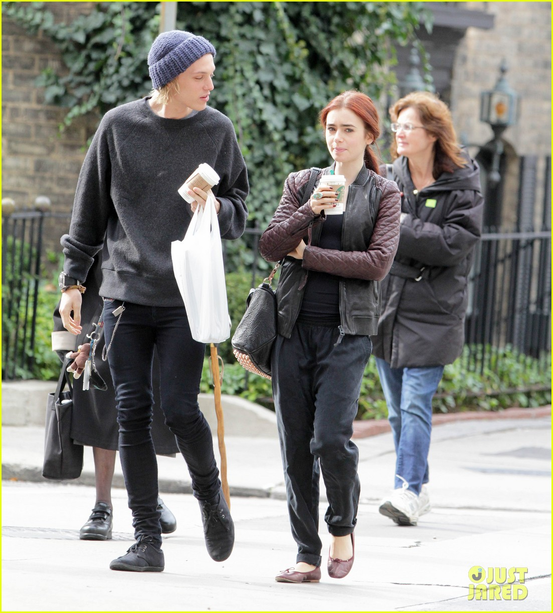 lily collins morning coffee jamie campbell bower 122742641