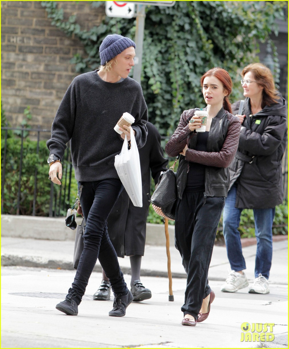 lily collins morning coffee jamie campbell bower 132742642