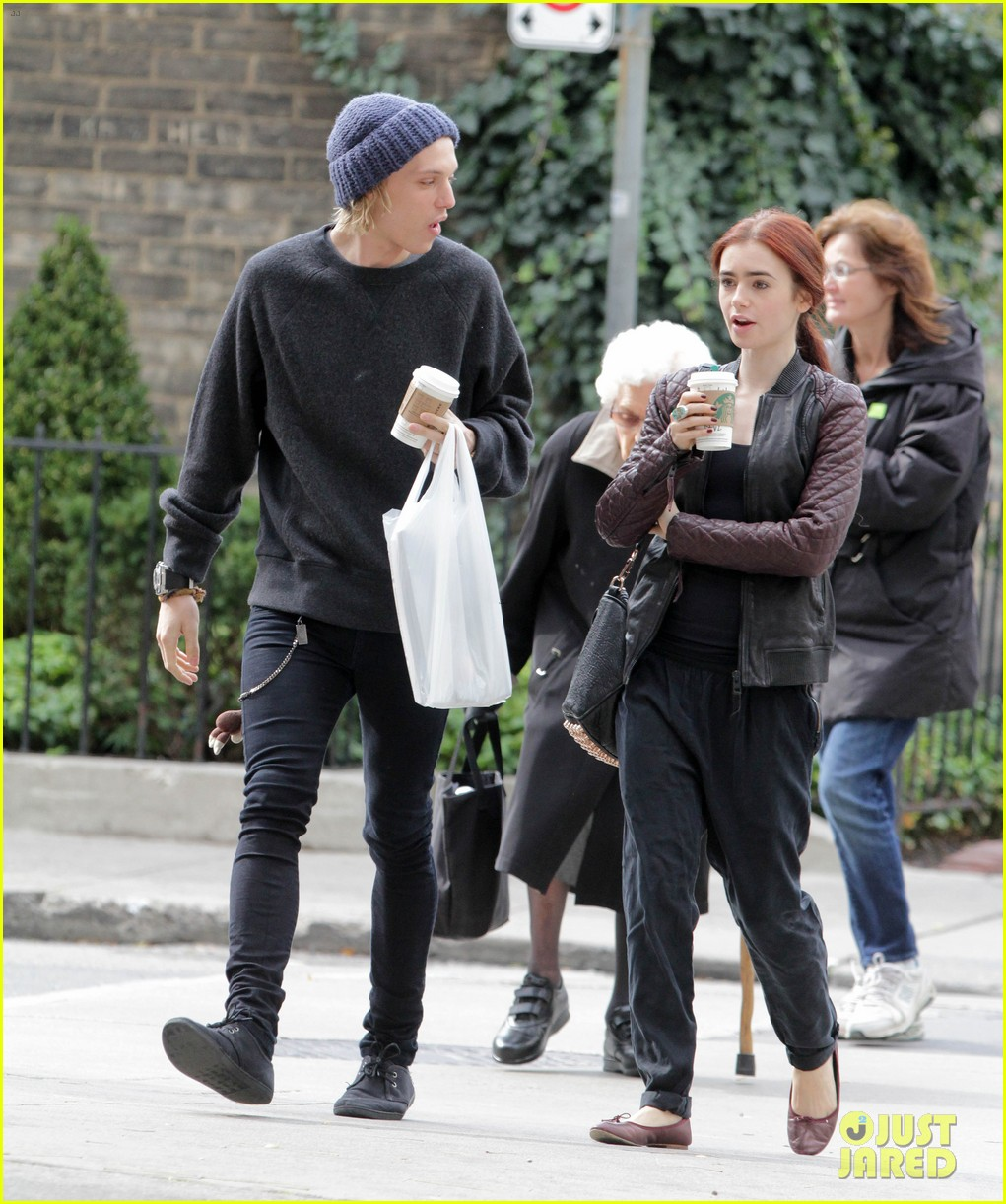 lily collins morning coffee jamie campbell bower 142742643