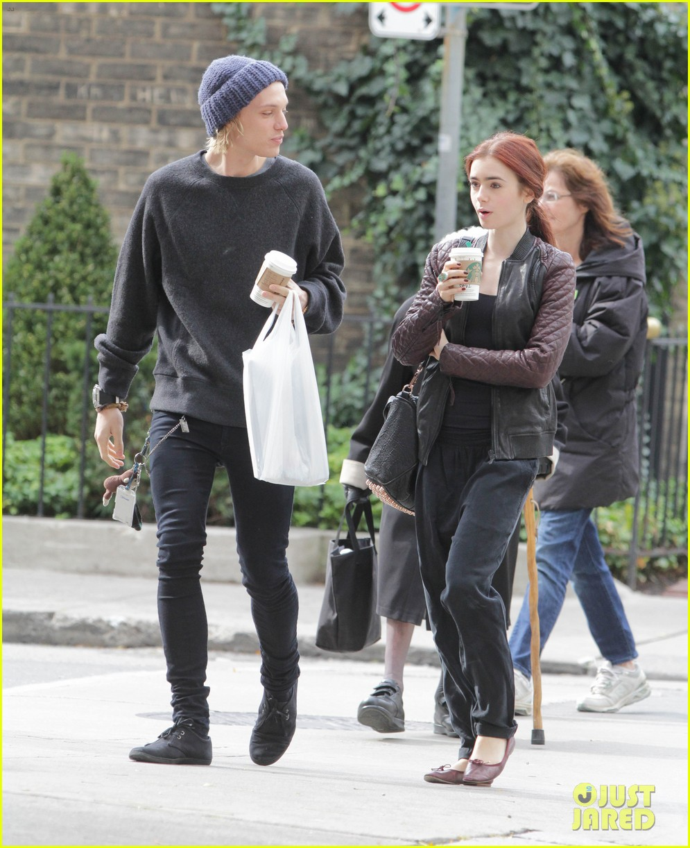 lily collins morning coffee jamie campbell bower 152742644