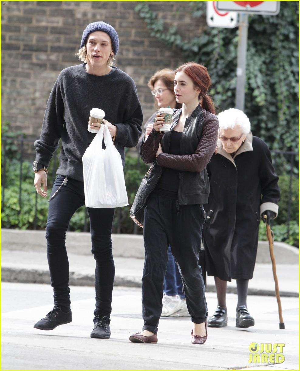 lily collins morning coffee jamie campbell bower 162742645