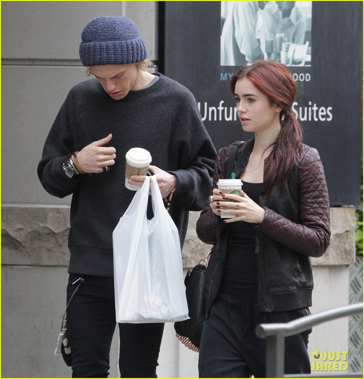lily collins morning coffee jamie campbell bower 182742647