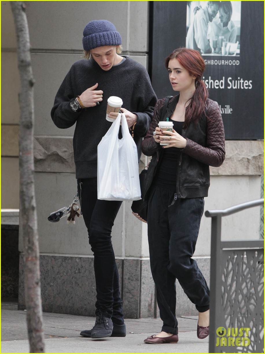 lily collins morning coffee jamie campbell bower 19