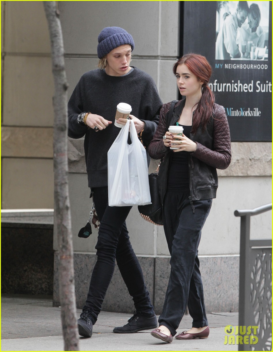 lily collins morning coffee jamie campbell bower 202742649