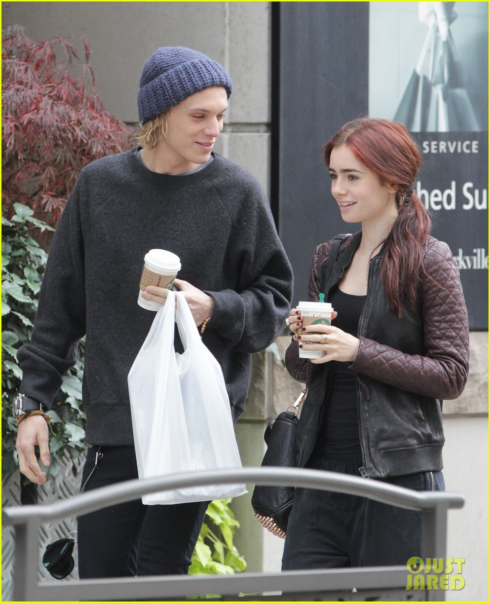 lily collins morning coffee jamie campbell bower 222742651