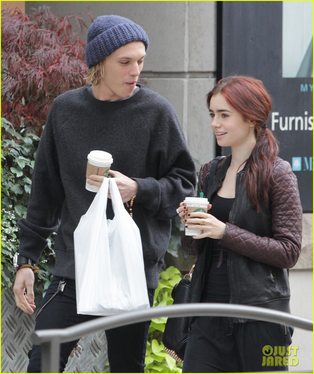 lily collins morning coffee jamie campbell bower 232742652