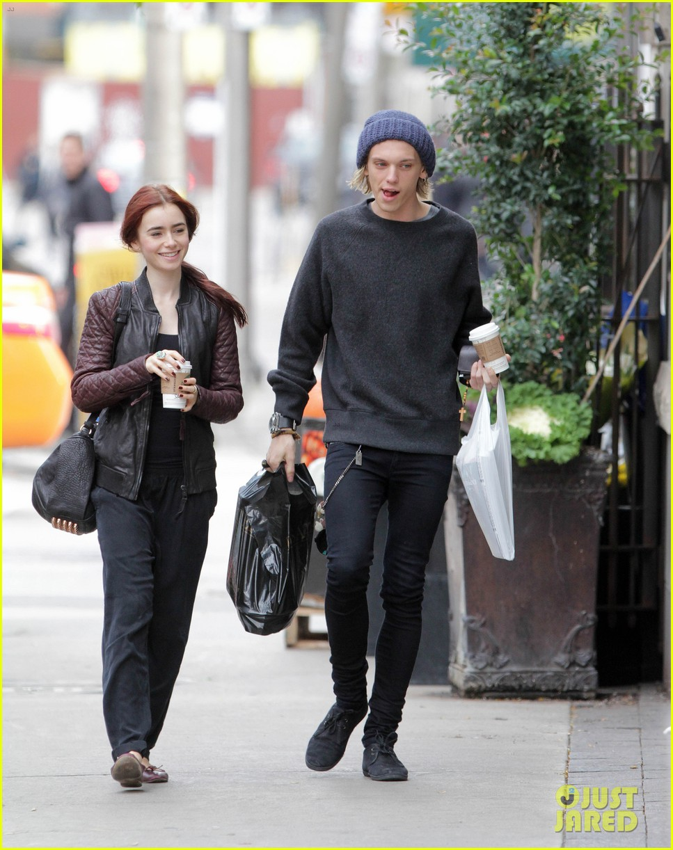 lily collins morning coffee jamie campbell bower 242742653