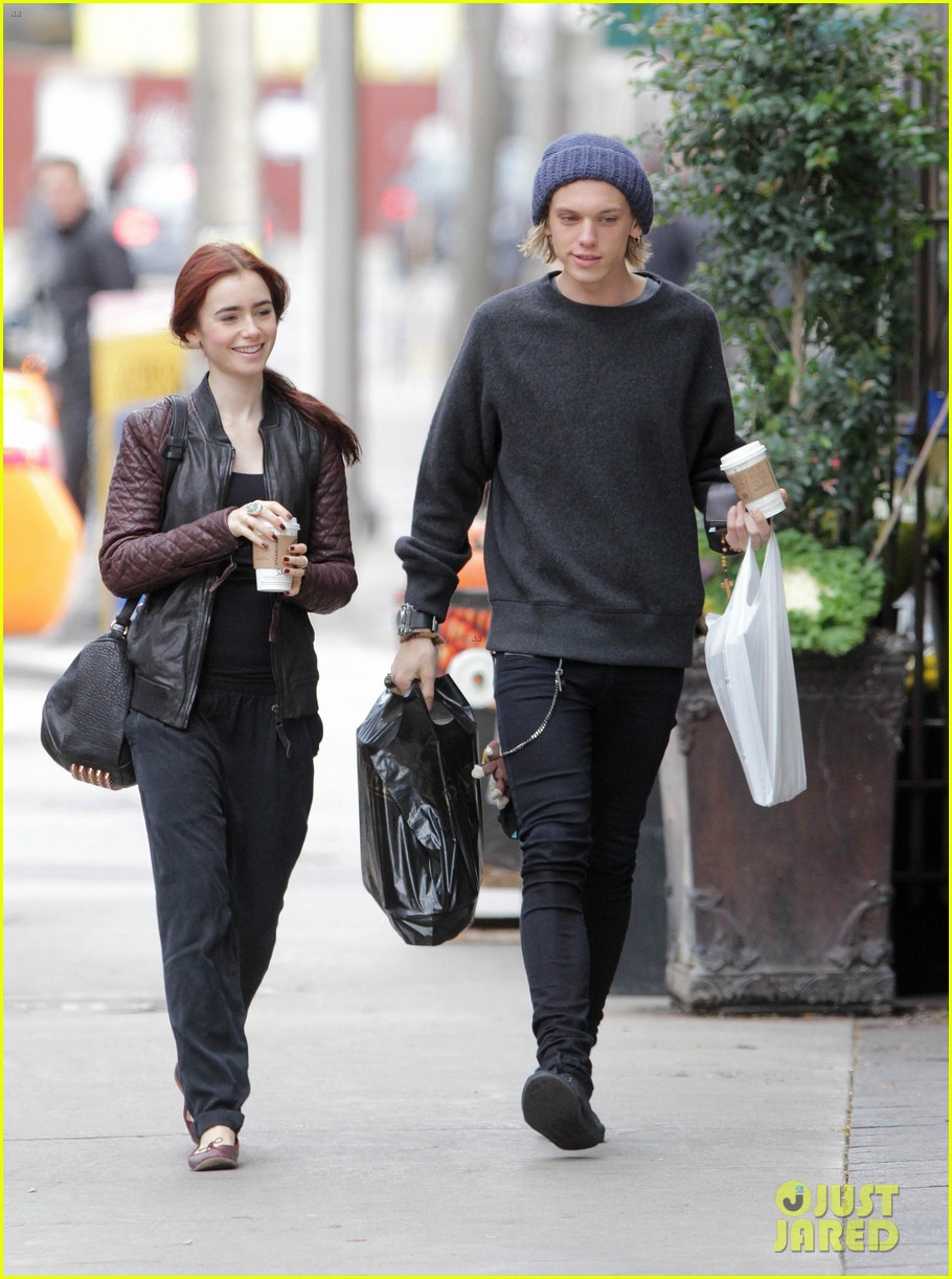 lily collins morning coffee jamie campbell bower 25