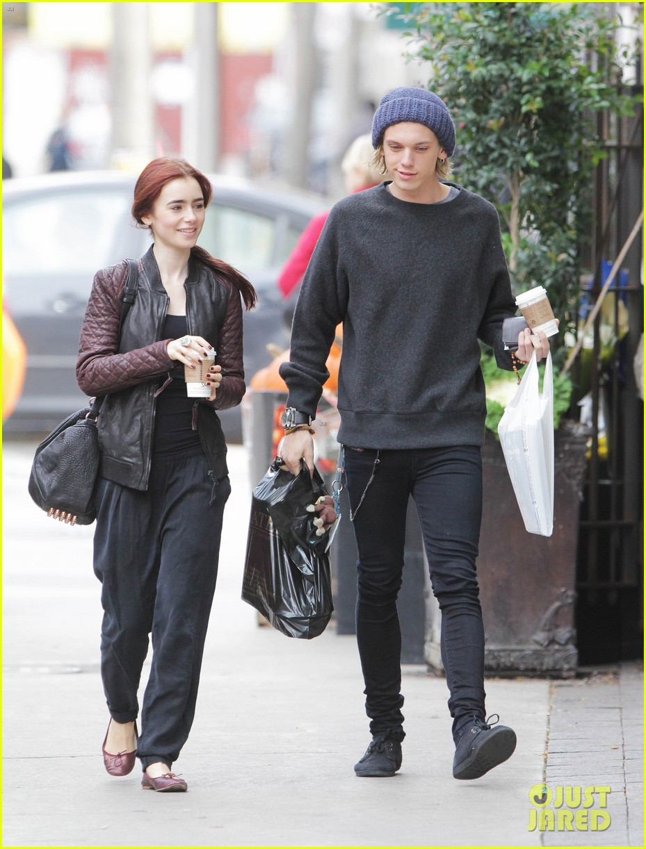lily collins morning coffee jamie campbell bower 262742655