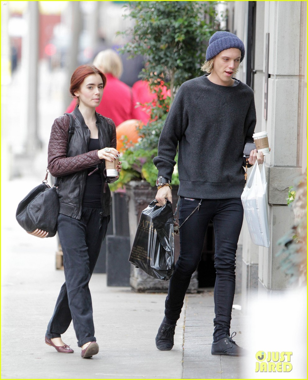 lily collins morning coffee jamie campbell bower 292742658