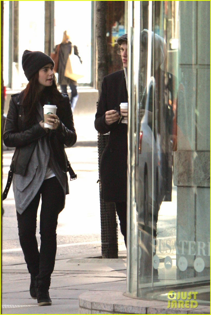 lily collins jamie campbell bower toronto twosome 032734981