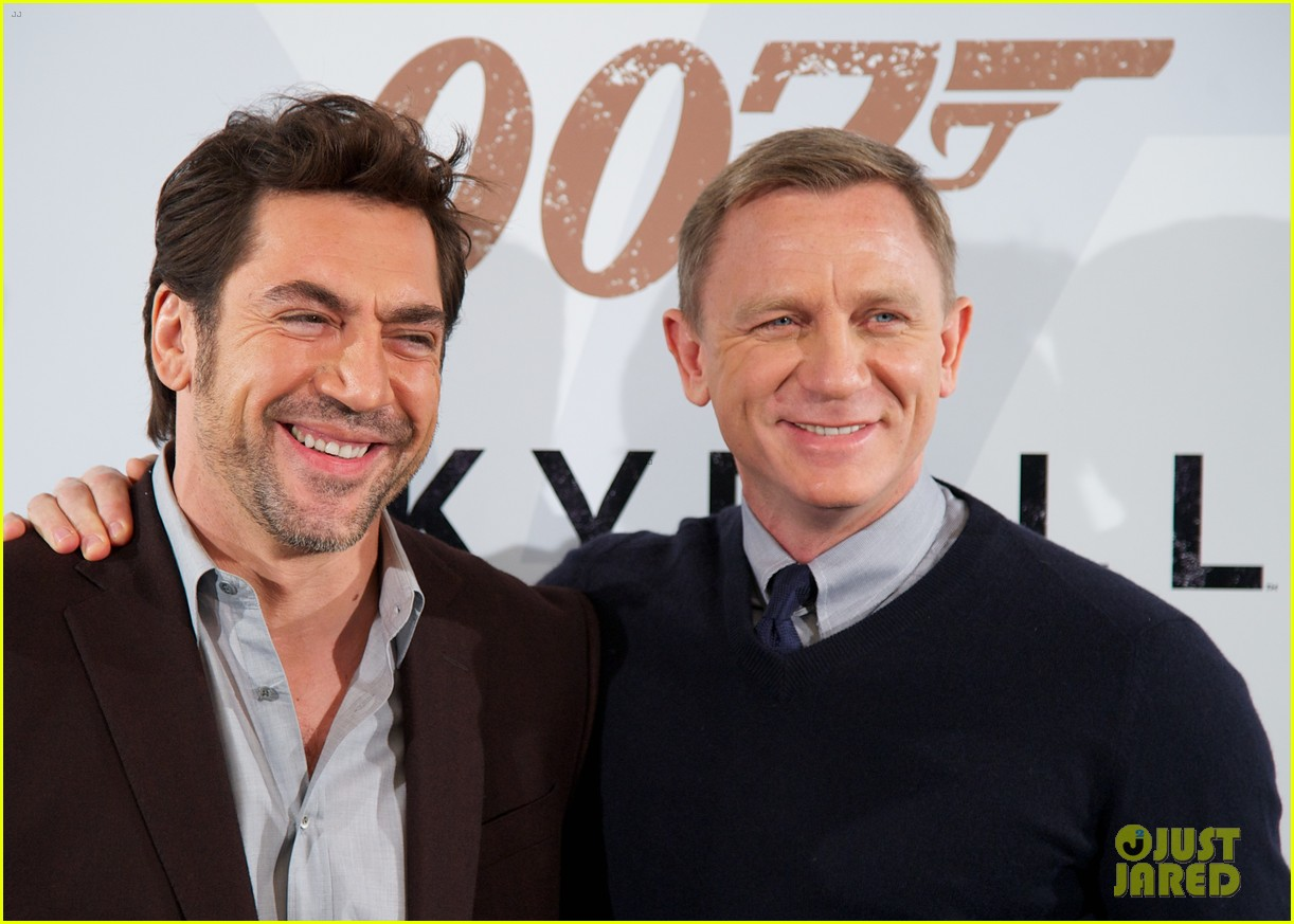 Daniel Craig & Javier Bardem: 'Skyfall' Madrid Photo Call