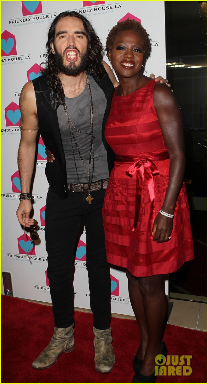 viola davis friendly house awards luncheon gala with russell brand 052746850