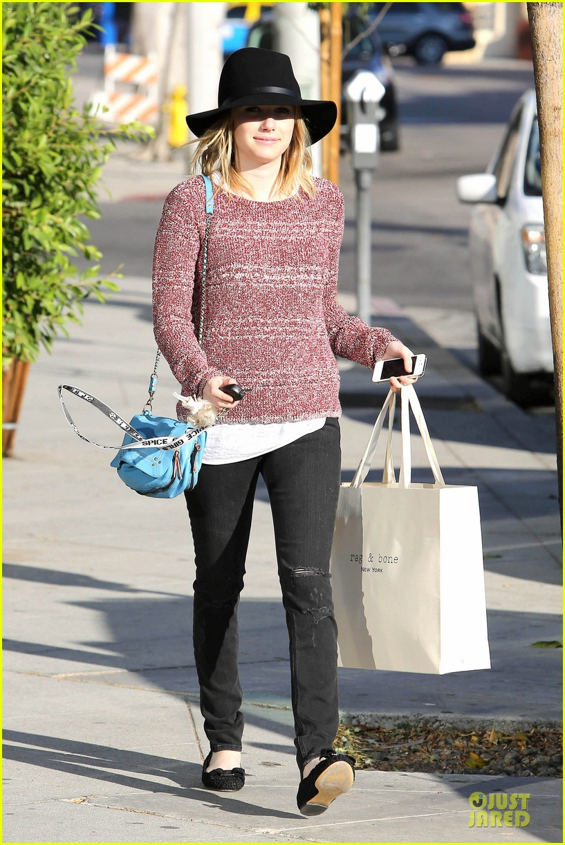 emma roberts promotes earth day 4 22 05